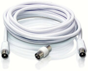 philips swv2205w 10 aerial lead coaxial cable male male female female adapter 4m white photo