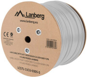 lanberg lan cable cat7 305m solid cu lszh grey cpr fluke passed photo