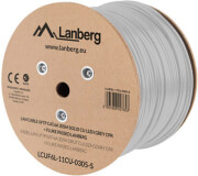 lanberg lan cable cat6a 305m solid cu lszh grey cpr fluke passed photo