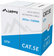 lanberg lan cable cat5e 305m solid cca red photo
