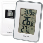 SENCOR SWS 25 WS WIRELESS THERMOMETER WITH WIRELESS SENSOR WHITE/SILVER