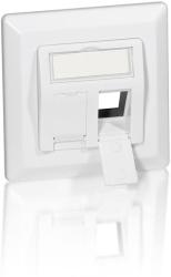 equip 761303 flush mounting set 80mmx80mm for 2 keystones white photo