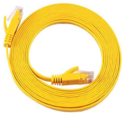 equip 607862 cat6a s ftp flat patch cable yellow 3m photo
