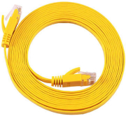 equip 607864 cat6a s ftp flat patch cable yellow 5m photo