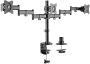 equip 650116 13 27 articulating triple monitor desk mount bracket photo