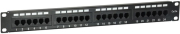 equip 235325 patch panel 24 port 19 1u cat5e unshielded black photo