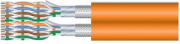equip 187331 duplex installation cable cat7 s ftp lszh solid copper 500m orange photo