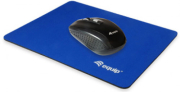 equip 245012 mouse pad monotone nylon rubber non slip base blue photo