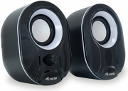 equip 245333 stereo 20 speakers black white photo
