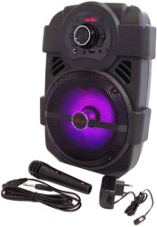 akai abts 808l multi purpose radio with bluetooth usb karaoke photo