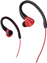 pioneer se e3 fully enclosed dynamic headphone ipx 2 water resistant red photo