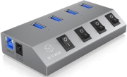 raidsonic icy box ib hub1405 4 port usb 30 hub and charger photo