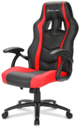 sharkoon skiller sgs1 gaming seat black red photo