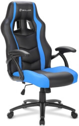 sharkoon skiller sgs1 gaming seat black blue photo