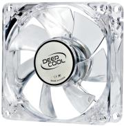 deepcool xfan 80l r 80mm transparent fan with red led photo