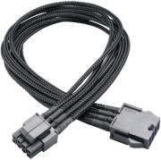 akasa ak cbpw08 40bk flexa p8 black fully braided 8 pin atx psu 40cm extension cable photo