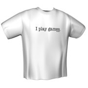 gamerswear t shirt i play games xxl photo