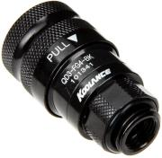 koolance qd3 female quick disconnect no spill coupling male threaded g 1 4 bspp black photo