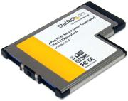 startech 2 port flush mount expresscard usb 30 card adapter photo