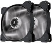 corsair air series sp140 led white high static pressure 140mm fan dual pack photo