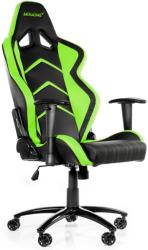 akracing player gaming chair black green photo