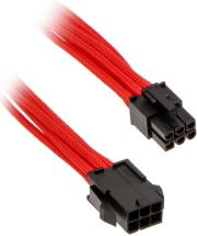 phanteks 6 pin pcie extension 50cm sleeved red photo