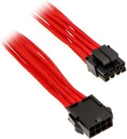 phanteks 8 pin eps12v extension 50cm sleeved red photo