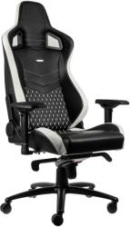 noblechairs epic real leather gaming chair black white red photo