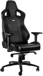 noblechairs epic real leather gaming chair black photo