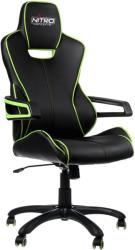 nitro concepts e200 race gaming chair black green photo