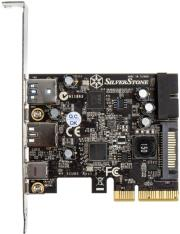 silverstone sst ecu05 1x usb31 typ c 2x usb30 2x internal usb30 pcie card photo