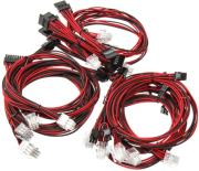 super flower sleeve cable kit black red photo