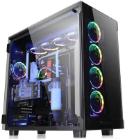 case thermaltake view 91 tempered glass rgb black photo