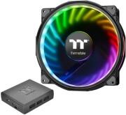 thermaltake riing plus 20 led rgb case fan tt premium edition 200mm single fan with controller photo