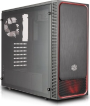 case coolermaster masterbox e500l side window panel version red photo