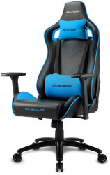 sharkoon elbrus 2 gaming chair black blue photo