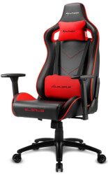 sharkoon elbrus 2 gaming chair black red photo