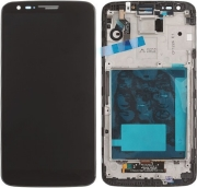 lcd display and digitizer touch screen with frame for lg g2 d802 black 3g010045 photo