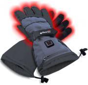 sunen glovii heated ski gloves dark grey l photo