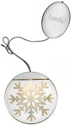 krinner deco highlights silver 10cm crystal with acrylic painting motif 76100 photo