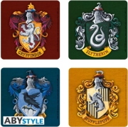 harry potter set 4 coasters houses photo
