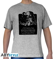 star wars t shirt vintage man ss sport grey l photo