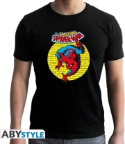 marvel tshirt spdm vintage man ss black new fit l photo