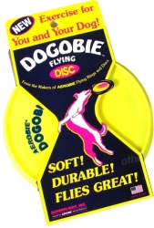 aerobie dogobie frisbee yellow photo