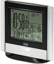 trevi me3120 rc clock with weather station and outdoor sensor silver photo