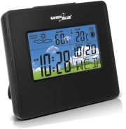 greenblue gb148b weather station clock moon calendar black photo