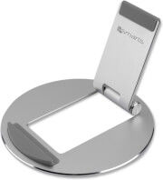 4smarts foldable aluminium stand for tablets and smartphones silver photo