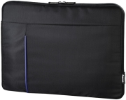 hama 101906 cape town notebook sleeve up to 40 cm 156 black blue photo