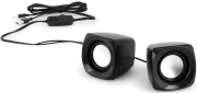 speakers abs with 35 mm stereo cable usb connection and volume control black photo