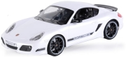 rc car porsche cayman r 1 16 with license white